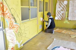 境谷小学校壁画制作(教室)