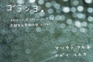 「ゴランヨ」油画専攻3回生2人展