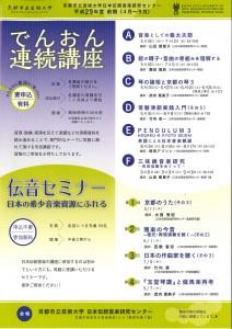 平成29年度(前期)日本伝統音楽研究センター「でんおん連続講座 D 常磐津節実践入門(その5)」