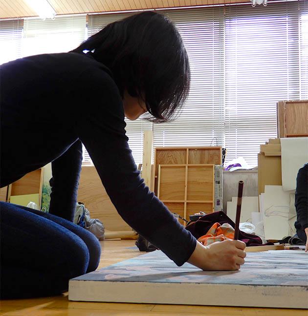 在校生の声2019日本画(大都遥加さん)