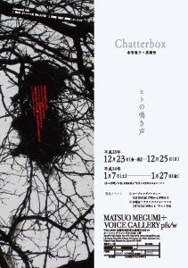 「Chatterbox /ヒトの鳴き声」 by 倉智敬子+高橋悟