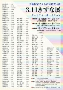 3.11きずな展チャリティーオークション【東北展】